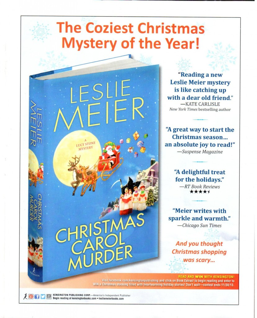 Mystery Scene Holiday issue 2013 ad